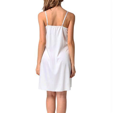 womens satin robe silk lace chemise sleepwear nightdress babydoll ebay