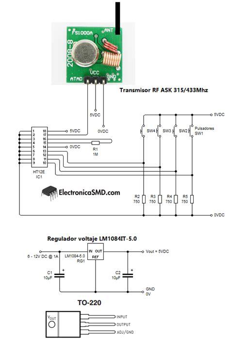 inalambrico radiofrecuencia 315 433mhz electronica guatemala smd