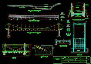 Suspension Bridge DWG Detail for AutoCAD • Designs CAD