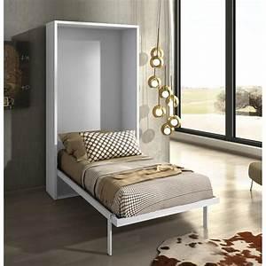 Armoire Lit Pas Cher : armoire lit escamotable joy ch ne blanc 90x200 achat ~ Nature-et-papiers.com Idées de Décoration