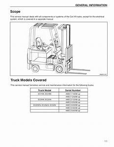 Caterpillar Cat Ec25ln Forklift Lift Trucks Service Repair