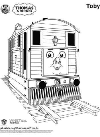 toby  thomas friends coloring page  printable