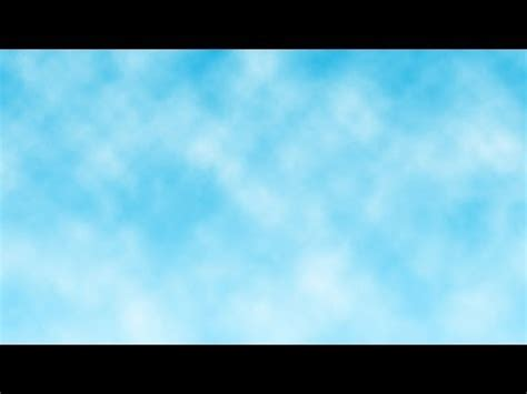 membuat efek langit biru  awan  photoshop youtube
