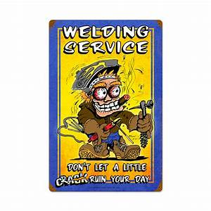 Welding, Service, Vintage, Metal, Sign, 16, X, 24, Inches