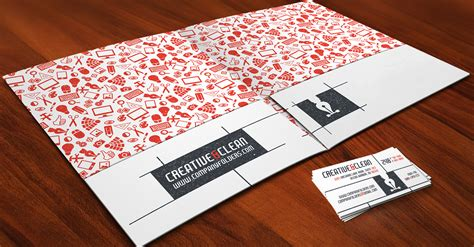 creative clean folder  business card  ai template