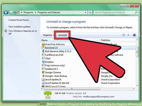 How To Delete A Program Completely By Modifying The