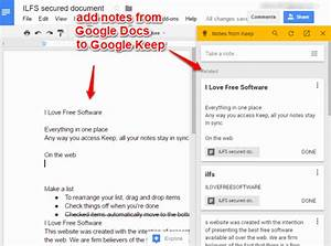 how to add notes to google keep from google docs With google keep documents