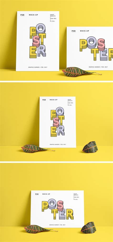 Logo printed on fabric mockup. Poster Free PSD Mockup Portret + Landscape - LTHEME