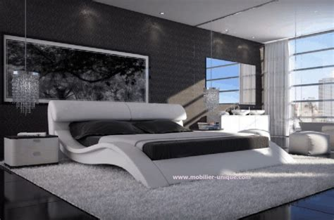 canapé blanc simili cuir pas cher lit en cuir italien design haut de gamme en 140 x 200 matera