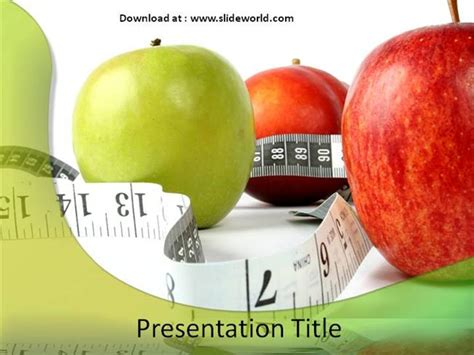 healthy diet powerpoint template powerpoint
