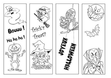 coloriage marque pages  colorier  signets halloween