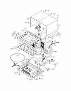 Oven  Cabinet Diagram  U0026 Parts List For Model Glmb209dbc