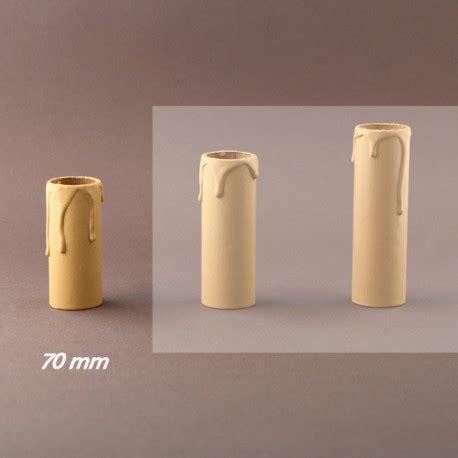 pilles plastique pour lustre fourreau bougie a gouttes ivoire d27 ht 70