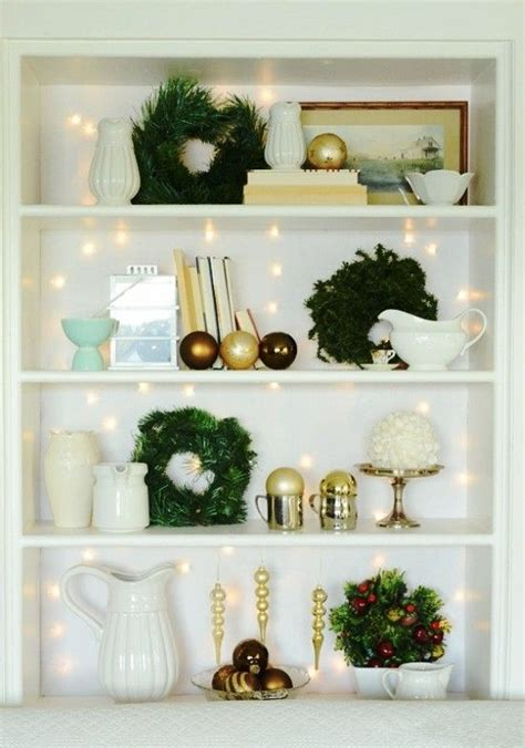 1000+ Images About Christmas Bookcase Decor Ideas On