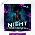 Affiche Premium Night Party in 2020   Party night, Psd, Poster