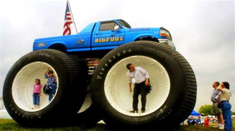 free monster truck videos bigfoot monster trucks jump compilation youtube