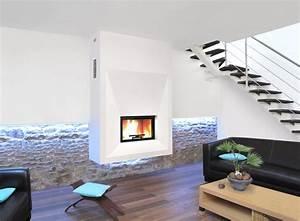 Cheminée Bois Design : cheminee suspendue design ~ Premium-room.com Idées de Décoration