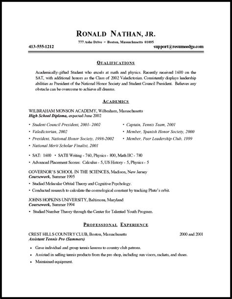 curriculum vitae format for students free resume templates
