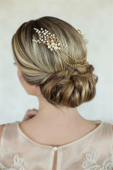 Bridal accessory inspiration Bridal hair updo 100