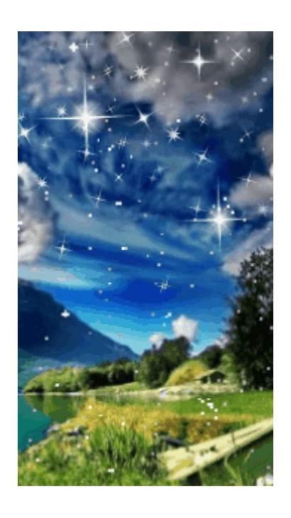 Screensavers Sky Starry Pemandangan Hidup Wallpapers Phone