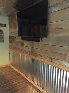 barnwood and tin wall the hooch pinterest tin walls With barn tin walls