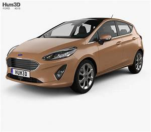 Ford Fiesta Titanium 2017 3d Model