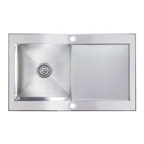 cooke and lewis kitchen sinks cooke lewis unik 1 bowl satin stainless steel sink with 8328