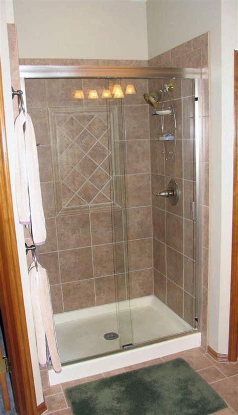 prefab shower stall lowes tub  shower conversion