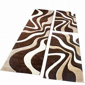 Teppich Laeufer Modern : bettumrandung teppich l ufer muster modern in braun beige ~ Michelbontemps.com Haus und Dekorationen