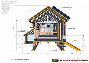 home garden plans: L200 - Large Chicken Coop Plans - How