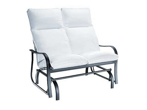 homecrest hill cushion aluminum high back arm glider