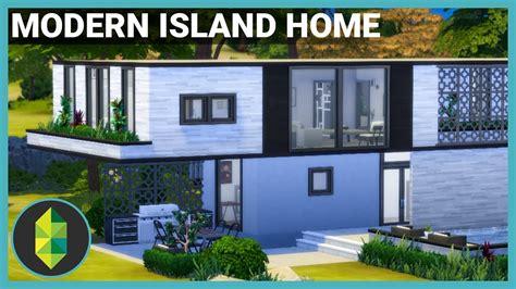 modern island home  sims  house build doovi
