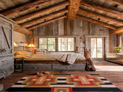 Country Bedrooms Ideas With Attic Rustic