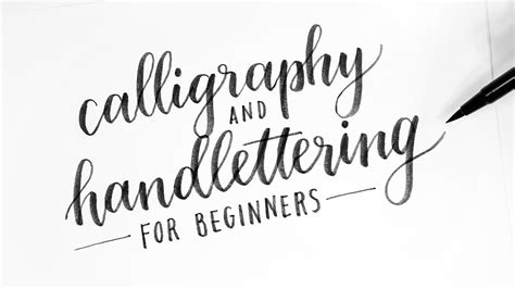 How To Calligraphy & Hand Lettering For Beginners! Tutorial + Tips! Youtube