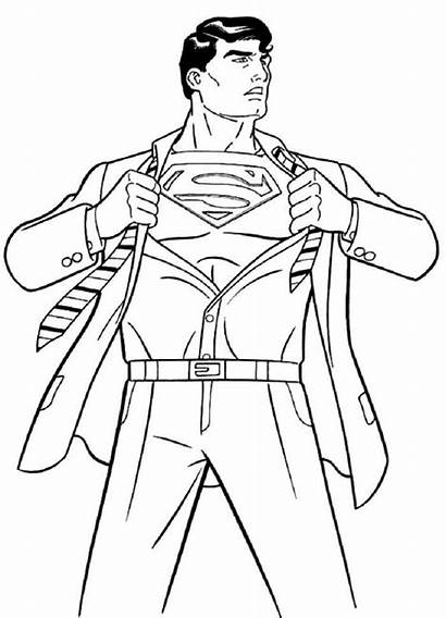 Superman Kent Clark Coloring Colorear Colorare Dibujos