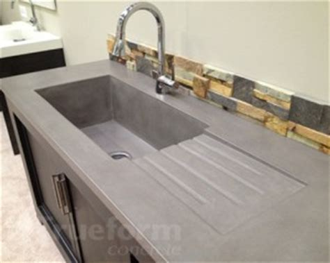 concrete sink kitchen trueform concrete displays at architectural digest show 2434