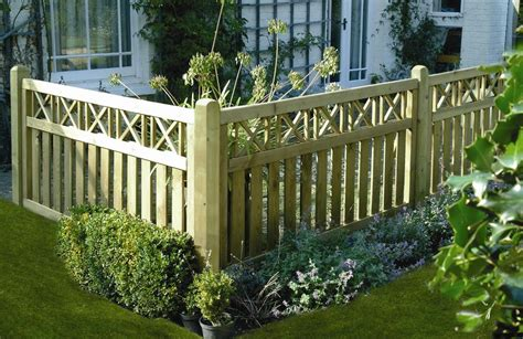 Decorative Garden Fence Panels Gates by Elite Cross Top Fence Panel West Timber Treatments