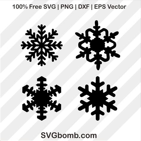 (h)eight x (w)idth x (d)epth in inches. Snowflake Bundles SVG Cutting File | SVGbomb.com