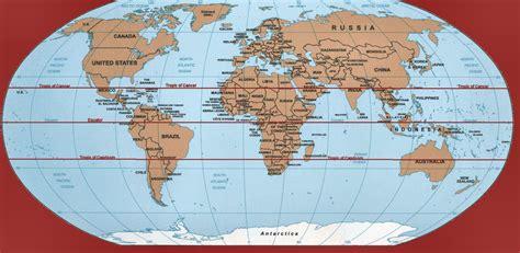 worldmap equator tropic  cancer tropic  capricorn