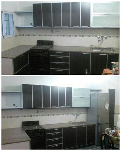 muebles  cocina en melamina  cantos en aluminio