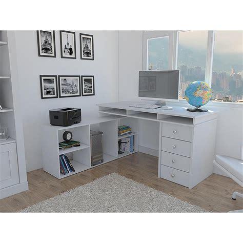 white corner desk with drawers houston white l shaped corner desk with 4 drawers elb2603