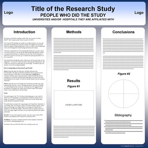 The powerpoint research poster template format doesn't get any simpler than the options on this site. Free Powerpoint Scientific Research Poster Templates for Printing