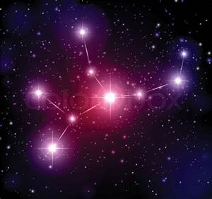 Abstract space background with stars and Virgo