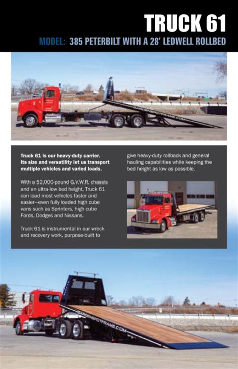 towing recovery brochure lancaster pa ephrata pa