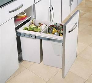 Poubelle De Tri Cuisine : poubelle de cuisine encastrable gris clair 2x20 litres ~ Dailycaller-alerts.com Idées de Décoration