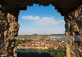 Germany Bavaria Karlstadt View Through Karlsburg Castle ...