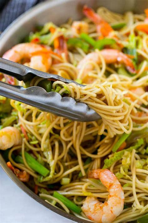 shrimp chow mein  pot meal dinner   zoo