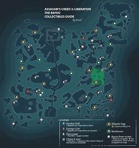 Assassin's Creed III: Liberation Bayou Collectible Map for ...