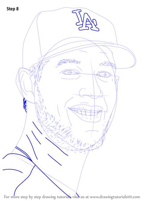 learn   draw clayton kershaw baseball players step