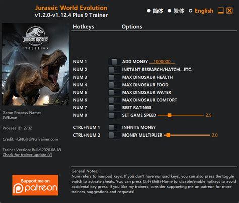 Jurassic World Evolution Trainer Fling Trainer Pc Game